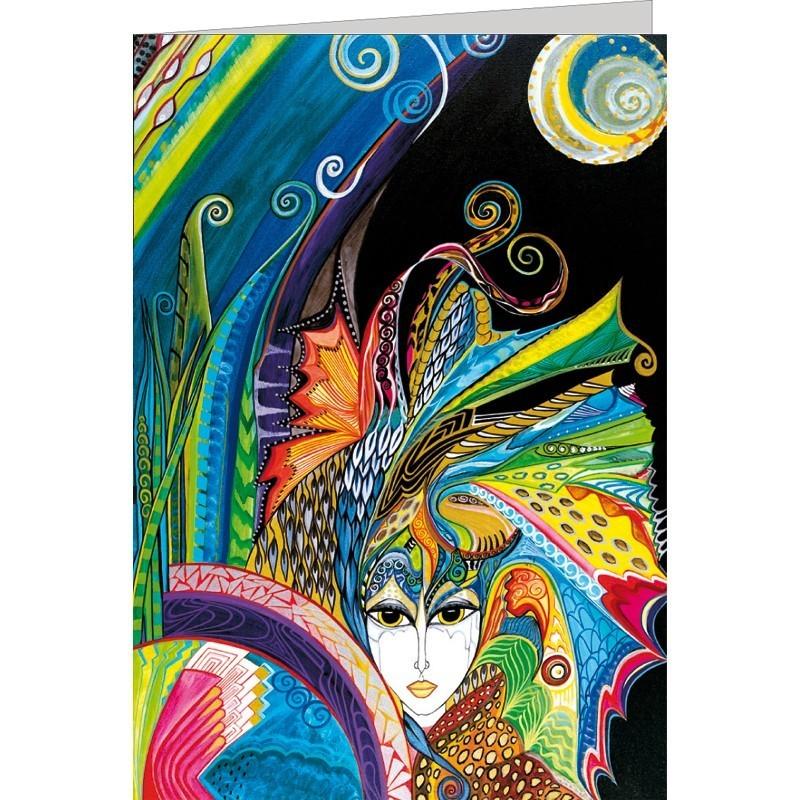 """Kunst-Doppelkarte """"Allegra"""" - Gigi Banini"""