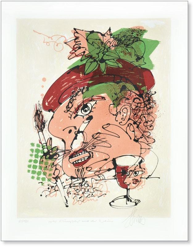 Der Künstler und der Wein