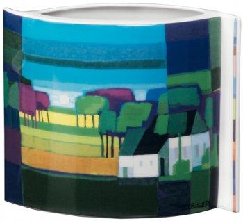"""Vase """"Der weiße Bauernhof"""""""