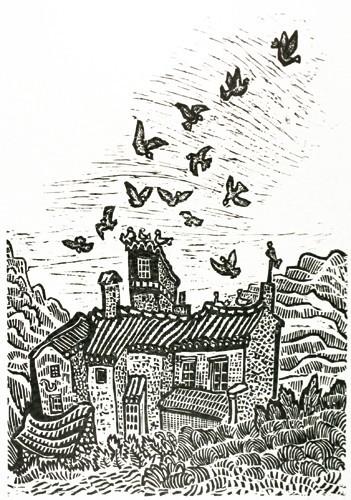 Haus mit Tauben
