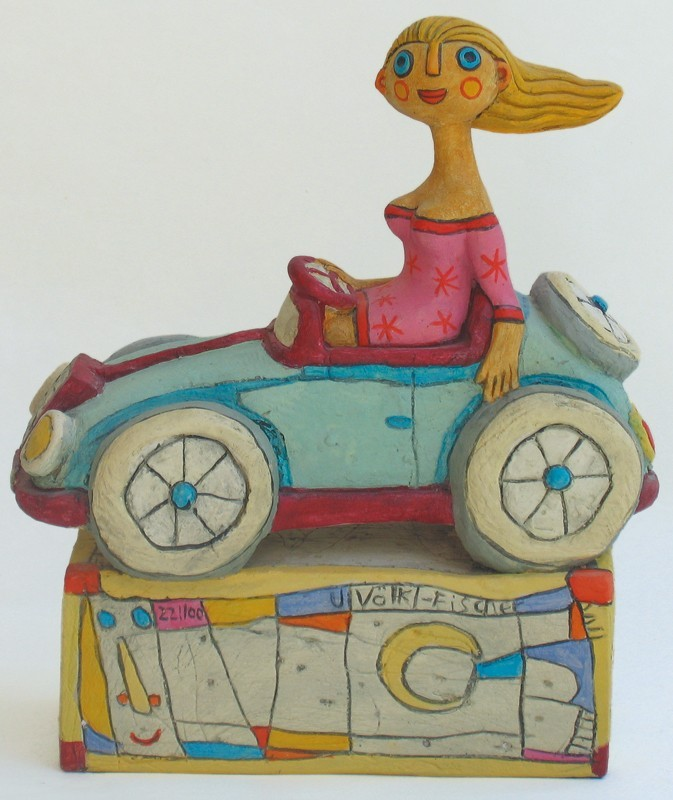 Cabriofahrerin