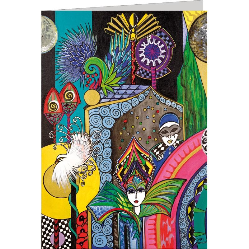 "Kunst Doppelkarte ""Venezianische Gärten II"" - Gigi Banini"