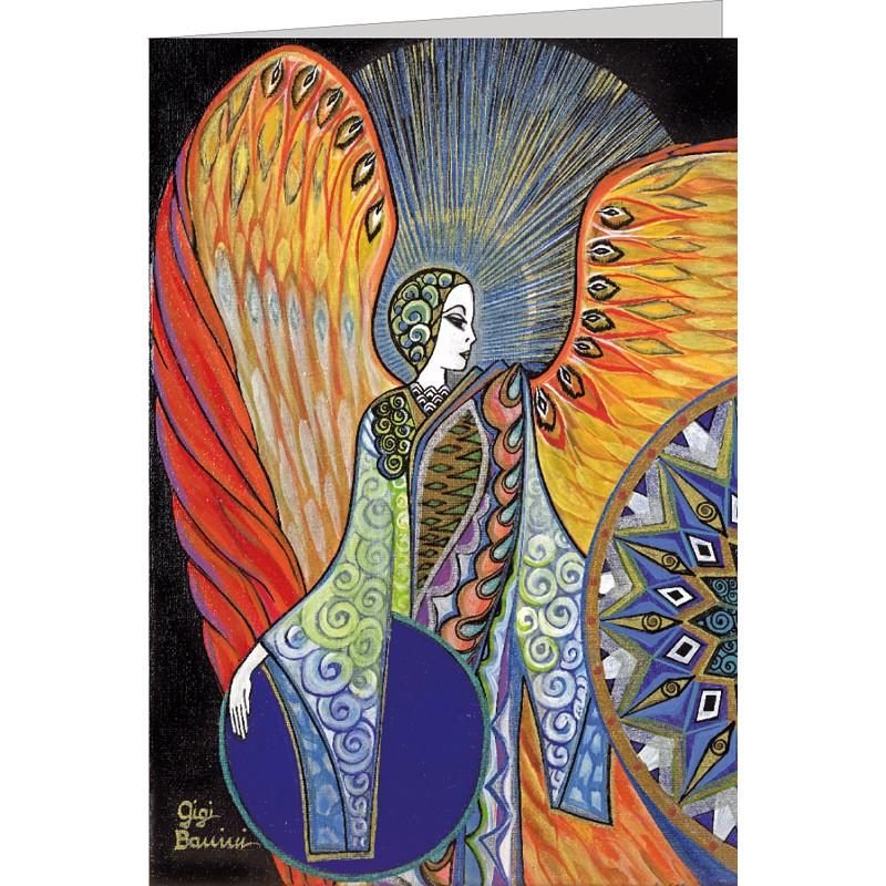 "Kunst Doppelkarte ""Engel des Lichts"" Gigi Banini"