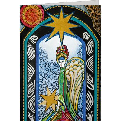 """Kunst Doppelkarte """"angelo con stelle"""" - Gigi Banini"""