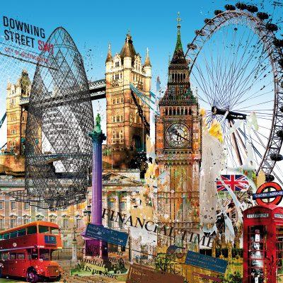 Stadtansicht London Leslie G. Hunt