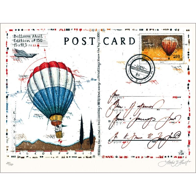 Postcard Balloon Mail